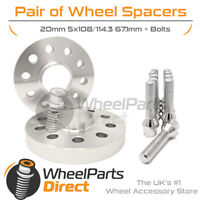 Wheel Spacers (2) & Bolts 20mm for Volvo XC90 [Mk1] 02-14 On Aftermarket Wheels
