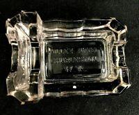 🟢 Antique Diamond Glass Co Advertising Holly Hotel WV Match Holder & Ashtray