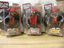 RUN-DMC MEZCO red beenie hat/black bomber jacket ACTION FIGURE SET (3)