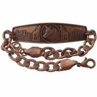 Solid Copper Bracelet Wolf Head Jewelry Howling Wolves Arthritis Pain Relief New