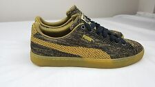 Men's Puma BASKET KNIT METALLIC Gold Fashion shoes SZ 9 363087 02