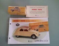 """Dinky Toys Atlas 2 Cv """"Citroen"""" Modele 61 Ref 558"""