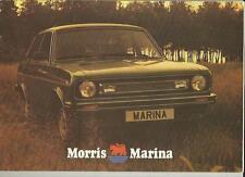 MORRIS MARINA 1300 COUPE, 1300/1700 SALOONS & ESTATES SALES BROCHURE LATE 70's