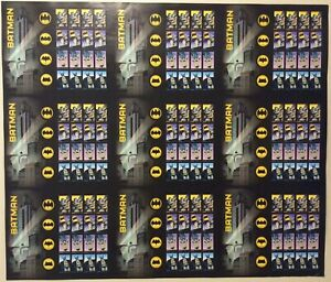 Batman Uncut Press Sheet of Nine Sheets of 20 Forever Postage Stamps Each