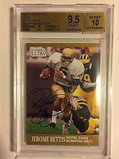2013 Retro Ultra #36 Jerome Bettis On Card Autograph  BGS GEM MINT 9.5  AUTO 10
