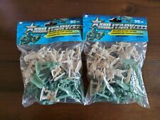 70 pcs Army Men Toy Soldiers Military Tan/Green Plastic Figurine Action Figure