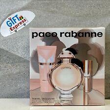 Olympea by Paco Rabanne Women 3 Pc Gift Set 2.7oz EDP Spray,3.4oz Body Lotion+..
