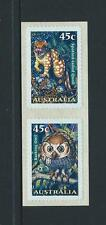 AUSTRALIA 1997 Nocturnal Animals 'SNP CAMBEC' S/Adhesive Pair Mint (SG 1720a)