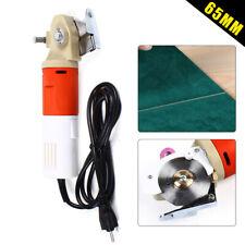 110V Electric Fabric Cutter Round Blade Scissors Leather Cutting Machine Us plug