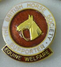 British Horse Society Enamel Lapel Pin Badge Supporter Equine Welfare Equestrian