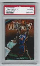 1997 Finest Charles Oakely REFRACTOR #227 Graded Card PSA 10 Knicks pop 2