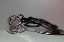 AUTHENTIC NEW PANDORA LOCK YOUR PROMISE CLIP 796556FPC W/GIFT BOX PINK HEARTS