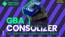 FingerCramp GBA Consolizer with HDMI, Recapped, Gameboy Advance TV CUSTOM PLEXI