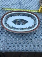 Oval Platter Plate Goebel Country Burgund Bavaria- Germany-Oeslauer