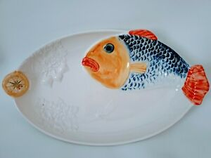 Fish Serving Platter ~ 17 inches. Large Platter!! Made in Portugal!