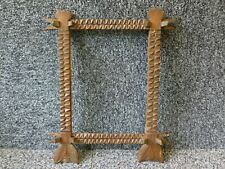 Antique Native Folk Art / Tramp Art Wooden Picture Frame Arrow Shapes