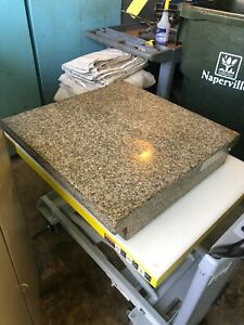 """GRANITE SURFACE  PLATE 24"""" X 24"""" X 5"""" GRADE A  VERY GOOD"""