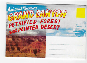 POSTCARD FOLDER-GRAND CANYON NATIONAL PARK-PETRIFIED FOREST AND PAINTED DESERT