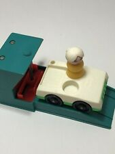 Fisher Price Little People Vintage Parking Ramp Garage Car Lift Car And Lady