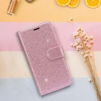 Women's Sparkle Wallet Glitter Slim Leather Case for iPhone XR Xs Max X 8 7 Plus