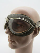 RARE CEBE 4000 French Pilot Aviator 40's GOGGLES Vintage FLIGHT Plane Air Racer