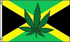 Jamaican Rasta Pot Leaf 3X5 Flag #701 U S large 3 x 5 foot banner Country new
