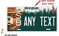 SMOKEY THE BEAR LICENSE PLATE, Any text, custom, vanity, camping, sportsman, RV