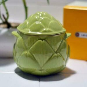 Le Creuset Kitchen Limited Mini Petite Artichoke Cocotte Green NEW