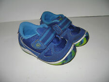 STRIDE RITE LINK BABY TODDLER BOYS SHOES WALKERS size 3 M BLUE LEATHER CUTE