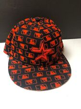 New Era 59fifty Baseball Cap Houston Astros Rare MLB All Over Logo  Embroidered b52b0529c076