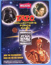 TRADING CARDS Walker's TAZOS BRITISH set binder '97 vtg Star Wars YODA