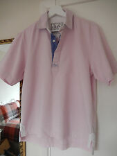 CREW CLOTHING COLLARED, SHORT SLEEVE XS PINK RUGBY TOP EX. CON. AS HARDLY WORN!