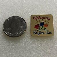 Volunteers Brighten Lives Gold Tone Pin Pinback #36803