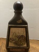 Jim Beam Beams Choice Empty Decanter Whiskey Bottle James Lockhart's Raccoon
