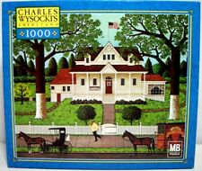 Jigsaw Puzzle Mb Hasbro 1000 pc Charles Wysocki Ice Cream & Hopscotch 2002