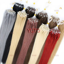 """14-26"""" Easy Loop Micro Rings Beads Ombre Remy Human Hair Extensions Straigh"""