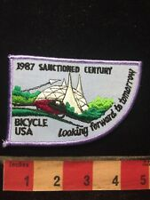 Vtg 1987 Sanctioned Century Bicycle Usa Patch - Futuristic 70H