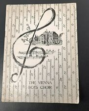 The Vienna Boys Choir Programme 1955 Manchester Free Trade Hall
