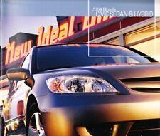 2004 04 Honda Civic Sedan Hybrid original brochure MINT