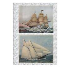 Two Lithoprints of Seascapes - 'Yachting' & 'The Packet Ship Shackamaxon'