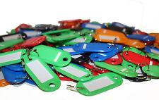200 X Budget colour key tags. Label ID identification plastic keyring bulk tag