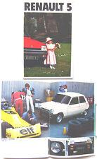 Renault 5 Gordini TS GTL Auto TL Base 1979-80 Original UK Sales Brochure