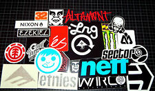15 Snowboard Decal Stickers Lot Obey, Etnies, Own The Avenue, Neff