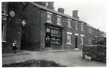 Medbourne Nr Market Harborough Grocer Shop RP old postcard pu 1930