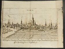 1648-GERMANIA-ULMA-Birken, Sigismund-VEDUTA ORIGINALE ALL'ACQUAFORTE