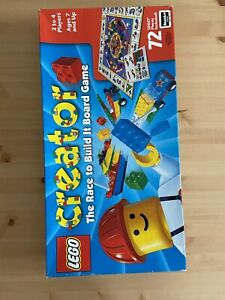 Vintage 1999 Lego Creator The Race To Build It Board Game 99% Complete
