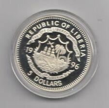 5 Dollar 1996 Farbmünze- Liberia