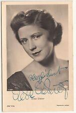 Ross Autogrammkarte Else Elster Signatur um 1940 ! (A1773