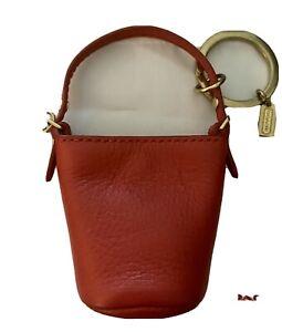Coach Mini Bucket Hobo  Bag Key Ring / Bag Charm  NEW