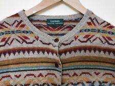 Ralph Lauren vintage Woollen  Fair Isle Knit Cardigan Size Small uk 8-10